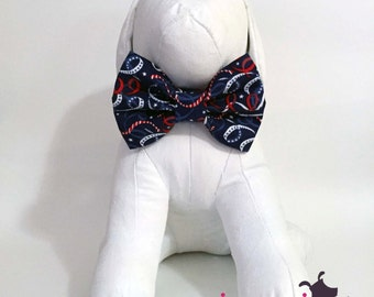 Patriotic Swirls Red, White, and Blue Dog Bow Tie