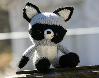 Knitted Racoon Doll - Amigirumi Toy