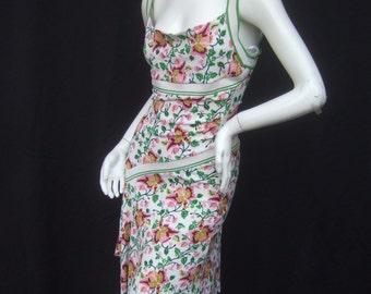 Diane Von Furstenberg Silk Blend Flower Knit Dress US Size 8