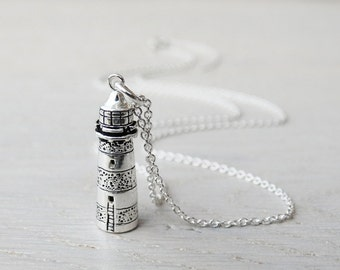 Silver Lighthouse Necklace - Sterling Silver