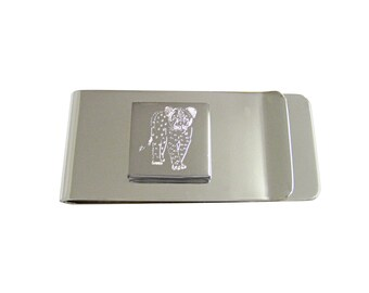 Engraved Cheetah Cub Money Clip