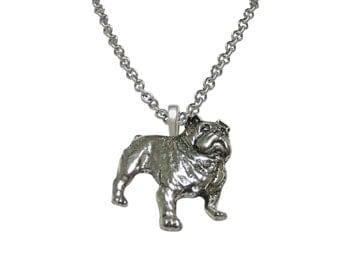 British Bulldog Pendant Necklace