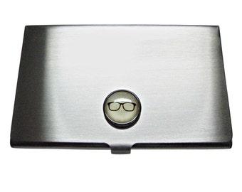 Glasses Pendant Business Card Holder