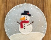 Frosty - Christmas Felt Ornament
