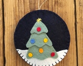 SALE! O Christmas Tree - Felt Christmas Ornament