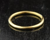 1.65mm 14k / 18k / 22k Gold Full Round Stacking Band Ring - 1.65mm