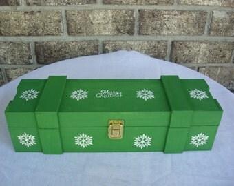 Christmas Wine Box.  Christmas Gift.