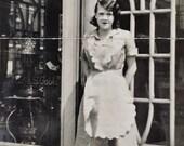 Original Vintage Photograph The Waitress
