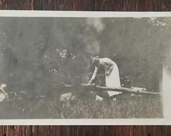 Original Antique Photograph The Gatherer