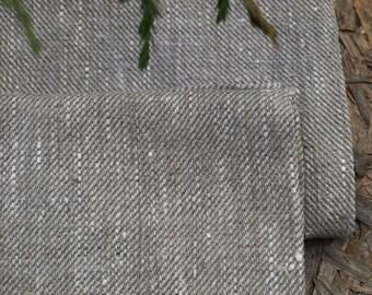 """Linen Kitchen Towels Set of 2 19 1/2""""x26 1/2"""" Natural Grey Washed Wrinkled"""