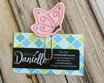 Butterfly Planner Bookmark, Butterfly Gift, Paper Clip for Planner, Butterfly Planner Clip, Book Club Gifts - Pink