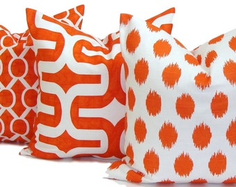 ORANGE Pillows, Orange Pillow Cover, Orange Decorative Pillow, Orange Throw Pillow, Orange Accent Pillows.Orange Cushion Covers. Orange