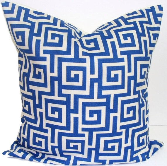 BLUE OUTDOOR PILLOW.20x20 inch.Pillow Cover.Decorative Pillows.Housewares.Home Decor.Throw Pillow.Outdoor Pillow..Indoor.Outdoor.Blue.Pillow