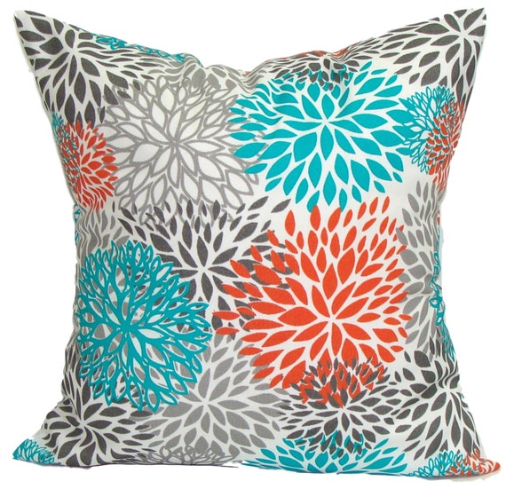 blue outdoor pillows blue floral pillow cover decorative. Black Bedroom Furniture Sets. Home Design Ideas