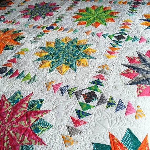 harlequin stars quilt pattern pdf by emma jean jansen. Black Bedroom Furniture Sets. Home Design Ideas