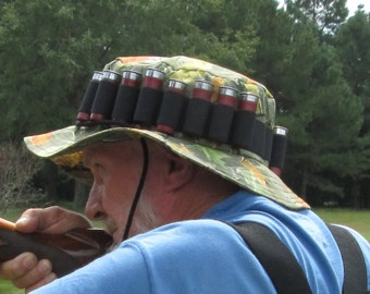Reserved for Allen - Shotgun Shell Woodsy Camo Hunting Booney Hat