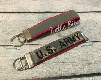 Velcro Name Tape Keychain