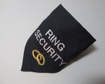Ring Security Wedding Dog Bandana - Over the Collar Style - Perfect for any wedding day
