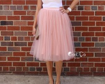 Colette - Gray Pink Tulle Skirt, Mauve Tulle Skirt, Premium Tulle Skirt, Soft Tulle Skirt, Plus Size Tulle Skirt, Bridesmaids Skirt