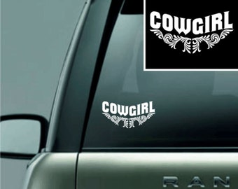 Cowgirl Vinyl Decal