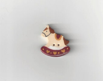 Clearance - Red Rocking Horse Button by Mill Hill, #86303U