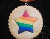 Rainbow Star Cookie Charm