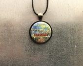Cyclone Necklace, Coney Island, Pendant Holiday Gift, Rollercoaster Necklace