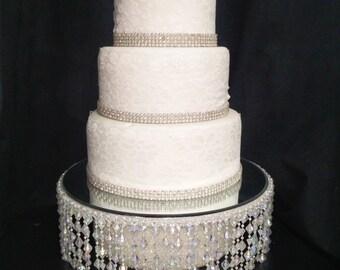 Ab Beaded Crystal Wedding Cake Stand Separators