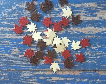 Glitter Leaves Confetti - glitter leaves- mini leaves- Fall Confetti- Fall Colors -Harvest-Thanksgiving-Mini Table Confetti- Fall in Love
