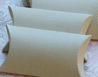 Pillow Box, White Pillow Box, Pillow Gift Box, Gift Box, Pillow Boxes, White Chipboard, 20 pc