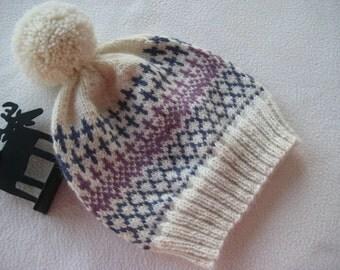 Pom-Pom Hat in Scandinavian Design  KAROL