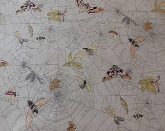 A Ghastlie Web / Gray - Alexander Henry Fabric 1 Yard