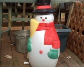 Vintage Christmas Snowman Blow Mold Light Cute TPI 1989 Frosty