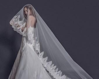 handmade chapel lace veil