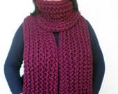 Burgundy Ivy Scarf Soft Alpaca Wool Big  Neckwarmer Women/Men Fashion  Chunky  Knit  Scarf NEW