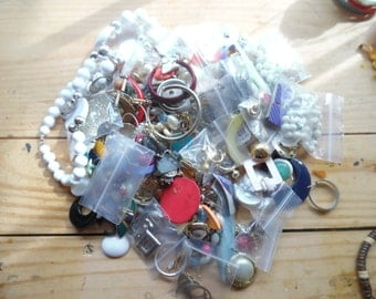 Vintage jewelry collection of whole and detached pieces  matching as well...13