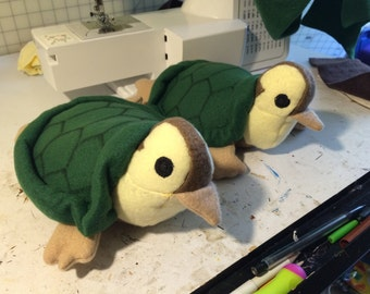Turtle duck plushie handmade made to order