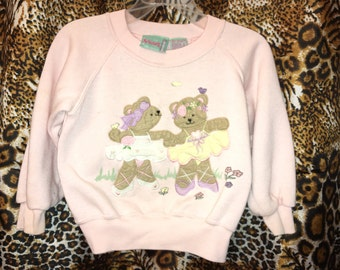 Vintage Mid-90's SPROCKETS by Mervyn's Toddler Girls Baby-Pink  Sweatshirt Size 3-4 OBO