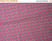 40% OFF Cotton Quilt Fabric Maroon with Green Strawberries and Pin Dots Strawberry Fabric - 1 7/8 Yard - CFL0431