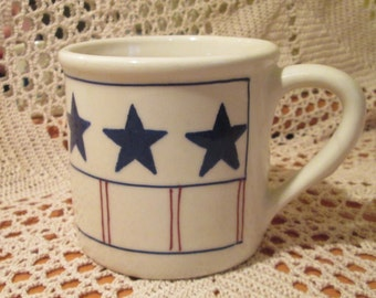 Hartstone Stars and Stripes Stoneware Mug