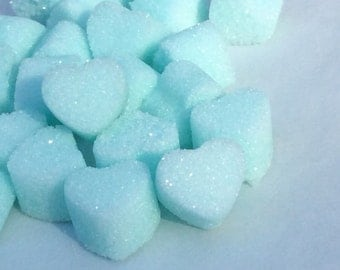 Rainbow Sugar Cube Hearts for VALENTINES DAY Tea.Coffee.Weddings.Baby Showers and Party's