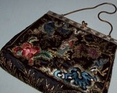 Reserved for ModF Evening Bag, Purse, Cocktails, Chinese Silk Embroidery, Kwan Yin, Vintage