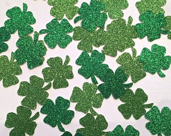 Shamrock Glitter Confetti -- St Patricks Day Party / Bridal Shower / Birthday Party / Bachelorette Party /  Wedding Decorations