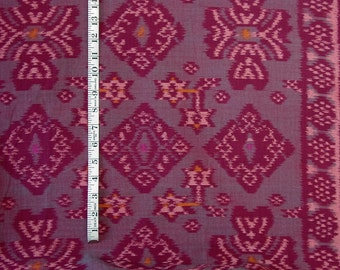 "Bali cotton ikat fabric - Fuchsia and pink-  39 "" wide - BTY"