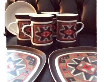 Quadrille Sango  # 7019 Replacement Discontinued Mugs and Plates