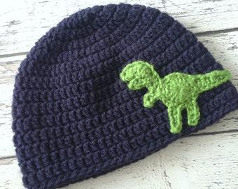 Dinosaur Hat, Crochet T-Rex Animal Hat, Children's Hat, Made to Order