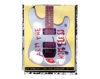 Tom Morello Rage Against the Machine guitar art print / music gift / rock n roll art / music room decor / guitar gift / man cave art