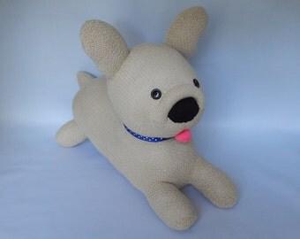 French Bulldog Plush Toy, Frenchie Stuffed Animal, Bulldog Sock Toy, Sock Monkey