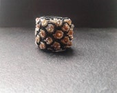 pattern ring, band ring, statement ring, crystal ring, embroided ring