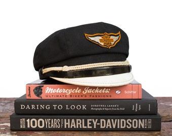 Vintage Motorcycle / 1940's / Harley Davidson Motorcycle Racing Cap / Size 6 7/8 / Vintage Hat